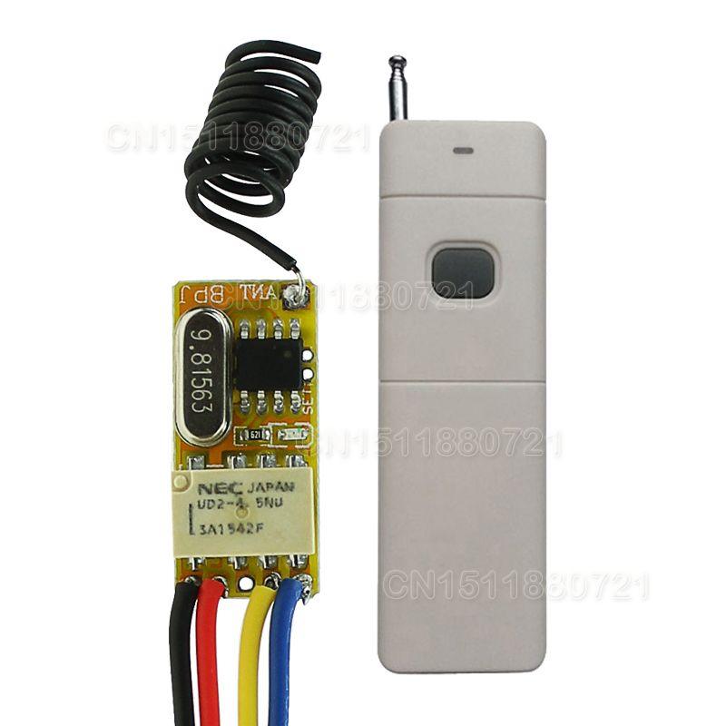 DC3V 3,7 V 7 V 9 V 12 V Mini Relais Wireless-schalter Fernbedienung 3000 Mt Power LED Lampe Controller Micro Empfänger Sender System