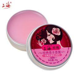 Rose perfume femenino clásico crema perfume sólido humedad calmante cuidado de la piel belleza perfumes y fragancias para las mujeres