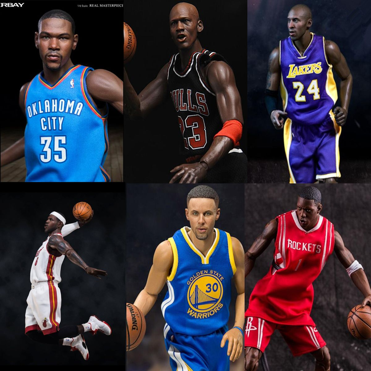 Nba Basketball Star Stephen Curry, Action Figures, 30 Cm High Toys Model For Sport, Lovers Collection