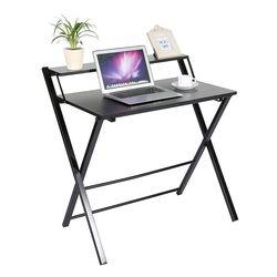 Nuevo diseño Muebles para el hogar escritorio plegable del ordenador portátil de oficina en casa escritorio color negro simple del cuaderno Escritorio