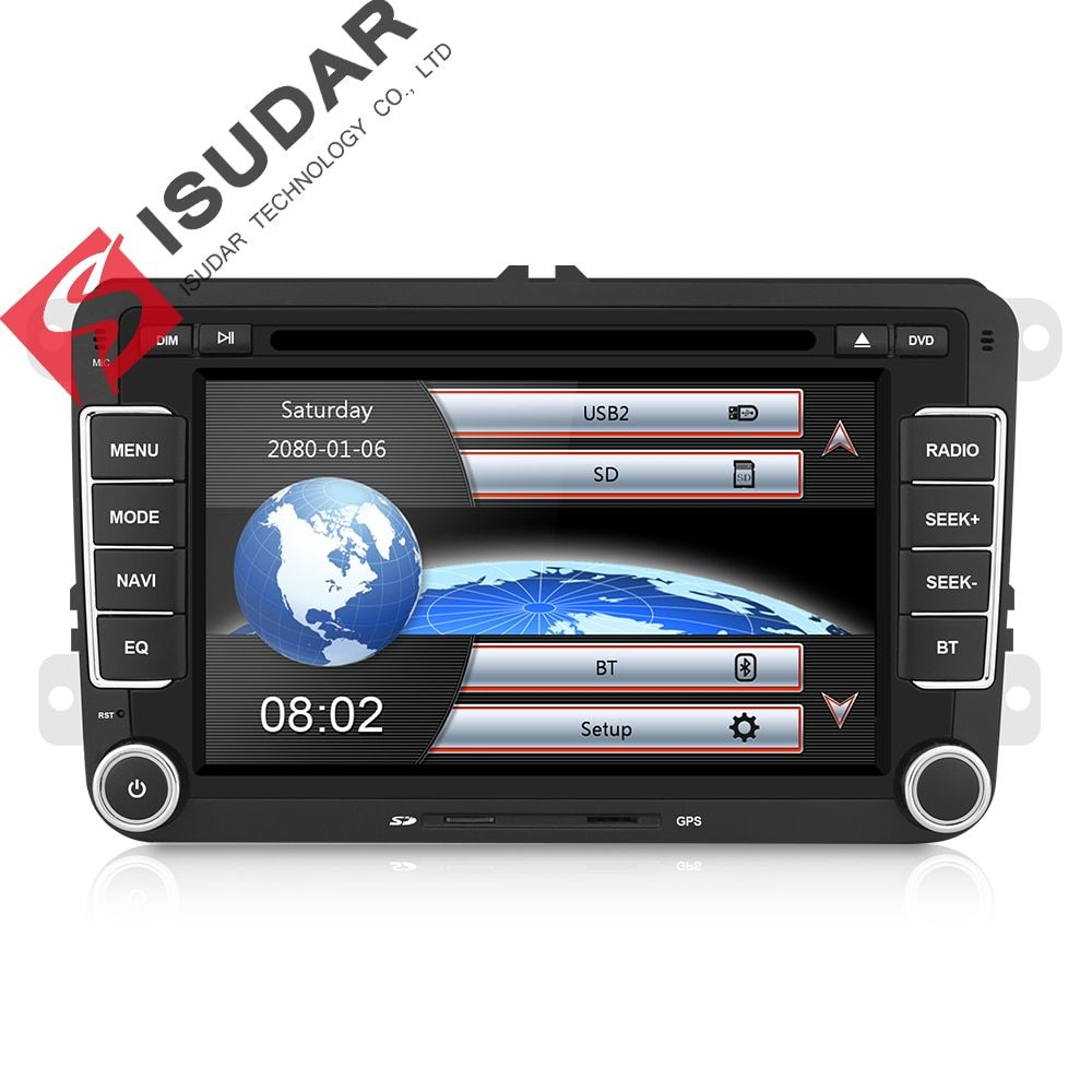 Lecteur Multimédia de Voiture Isudar 2 din DVD de voiture pour VW/Volkswagen/Golf/Polo/Tiguan/Passat/b7/b6/SEAT/leon/Skoda/Octavia Radio GPS DAB