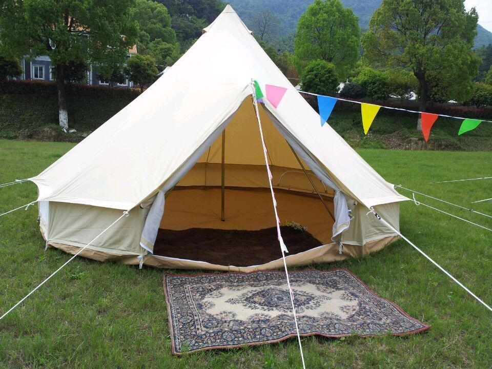 FREE SHIPPING! 5M cotton canvas bell tent ,camping tent, glamping tent
