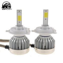 SUP-LIGHT H4 H7 H13 H11 H1 9005 9006 H3 9004 9007 COB LED Fog Light 6000K  LED headlight bulb