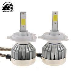SUP-luz H4 H7 H13 H11 H1 9005 9006 H3 9004 9007 COB LED Luz de niebla 6000 K led bombilla del faro