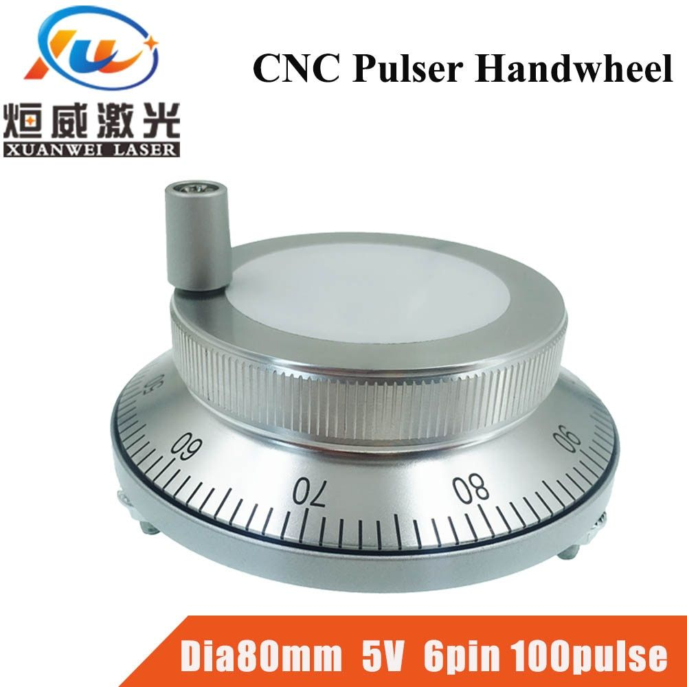 CNC Pulser Handrad 5 V 6pin Puls 100 Manuelle Puls Generator Hand Rad CNC Maschine Dia. 80mm Rotary Encoder Kostenloser Versand