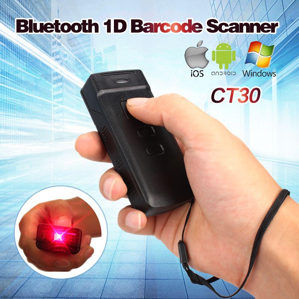 Blueskysea Aktualisiert Mini CT30 Drahtlose Bluetooth Barcode-scanner für IOS 6 Plus Android Windows