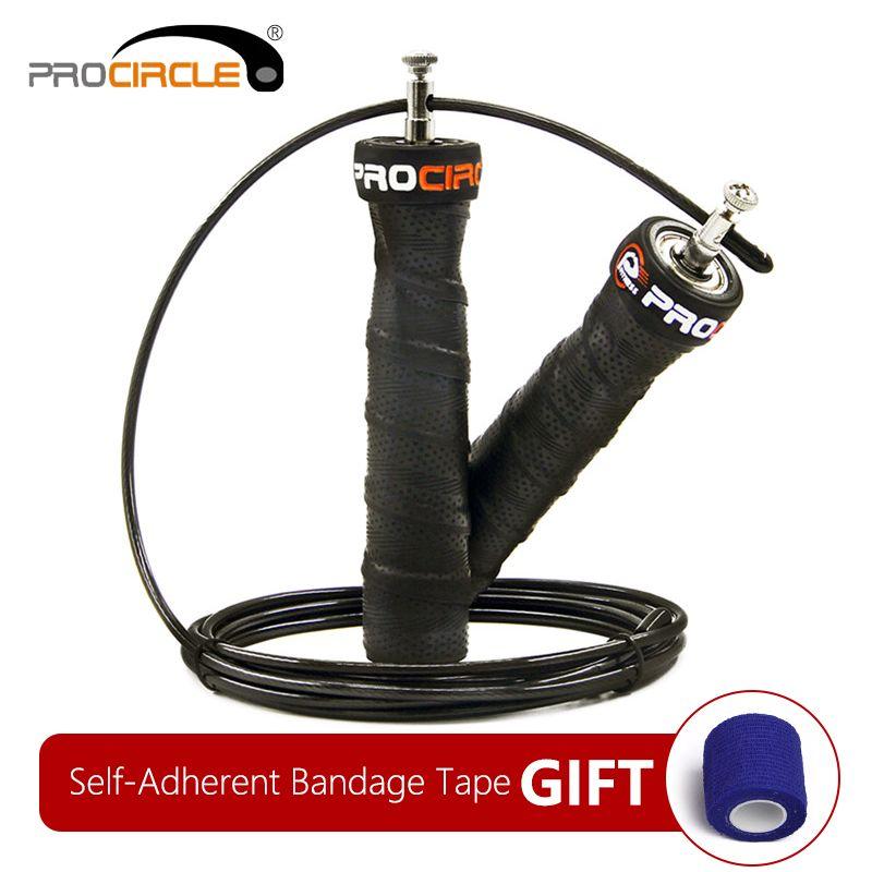 Corde à sauter crossfit Sauter Vitesse et Pondérée corde à sauter avec Extra câble haut débit roulements à bille Anti-Slip Poignée pour Double Under