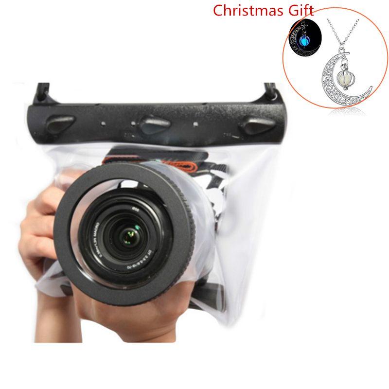 Sous-marine 20 m Étanche Sac Photo De Haute Qualité Sec Logement Cas pour Nikon Canon Sony Plongée Poche REFLEX DSLR Caméra cas