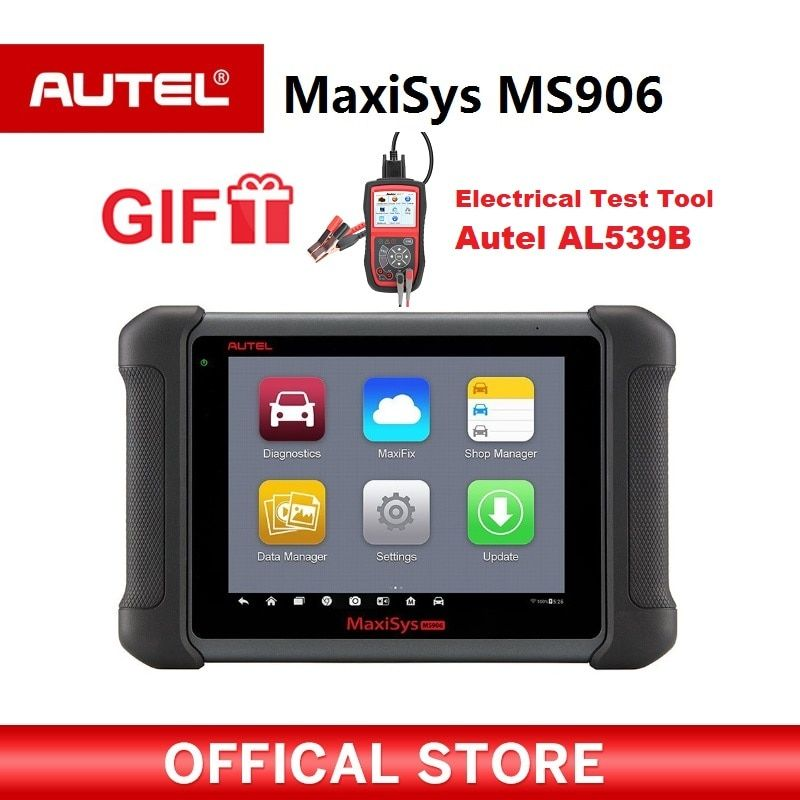 Autel MaxiSys MS906 OBD2 Scanner Automotive Diagnostic tool MS 906 key programming code reader OEM tools key coding Gift AL539B