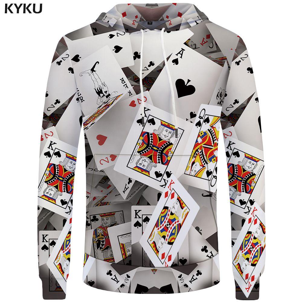 KYKU Poker Sweatshirts 3D Sweatshirt Funny Sweat shirt Las Vegas Hoodie Sweatshirts Male Men Stranger Things Winter Hoody