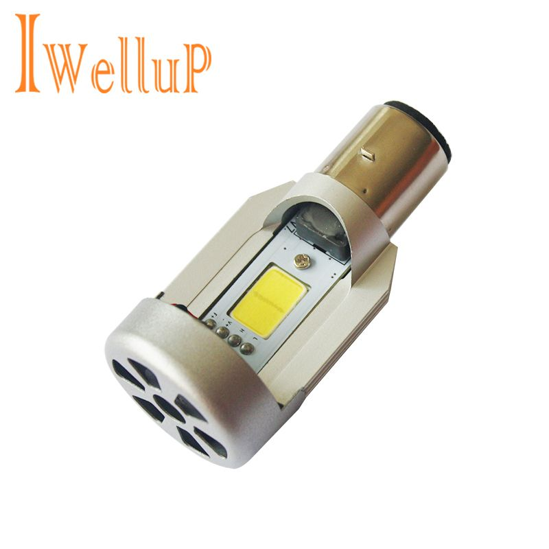 High Quality LED 20W*2 2000LM*2 Hi/Lo Beam DC12V 6500K BA20D Plug Led Motorcycle Headlight Bulbs Moped Scooter Motobike Headlamp