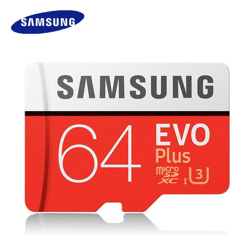 Carte mémoire SAMSUNG Micro SD 64 u3 64GB Class10 TF carte C10 SDXC UHS-I EVO mini carte Microsd 64 gb livraison directe