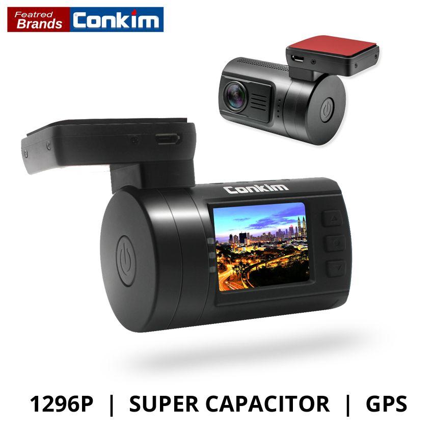 Conkim Ambarella A7 Dash Camera Car DVR With GPS 1296P 1080P Full HD Auto Video Recorder LDWS Mini 0806s Upgrade From Mini 0806