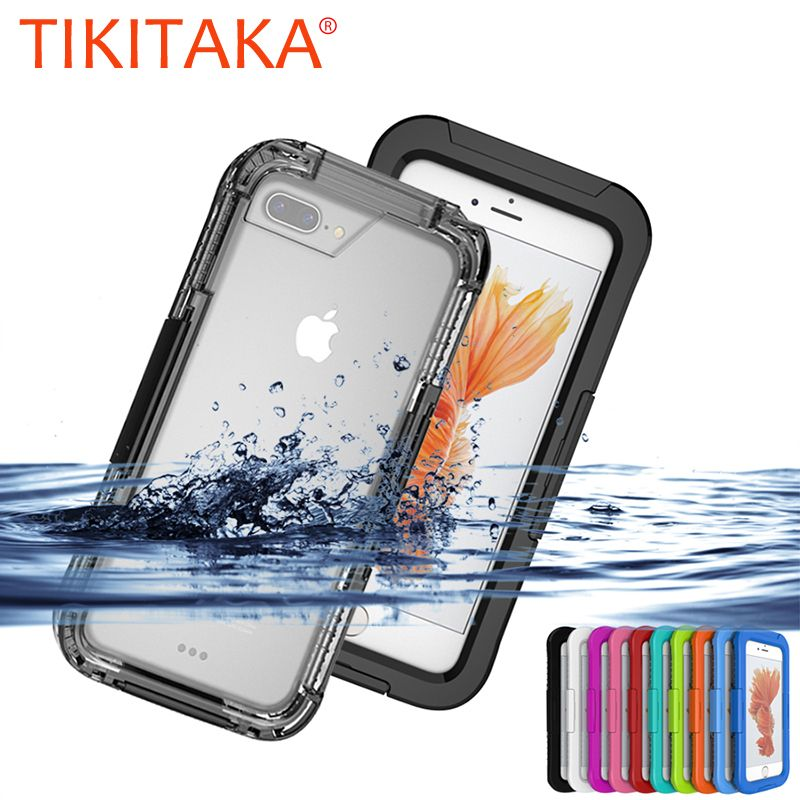 IP-68 Waterproof Heavy Duty Hybrid Swimming Dive Diving Case For iPhone 7 6 6S Plus Cover Water/Dirt/Shock Proof Phone Bag Cases