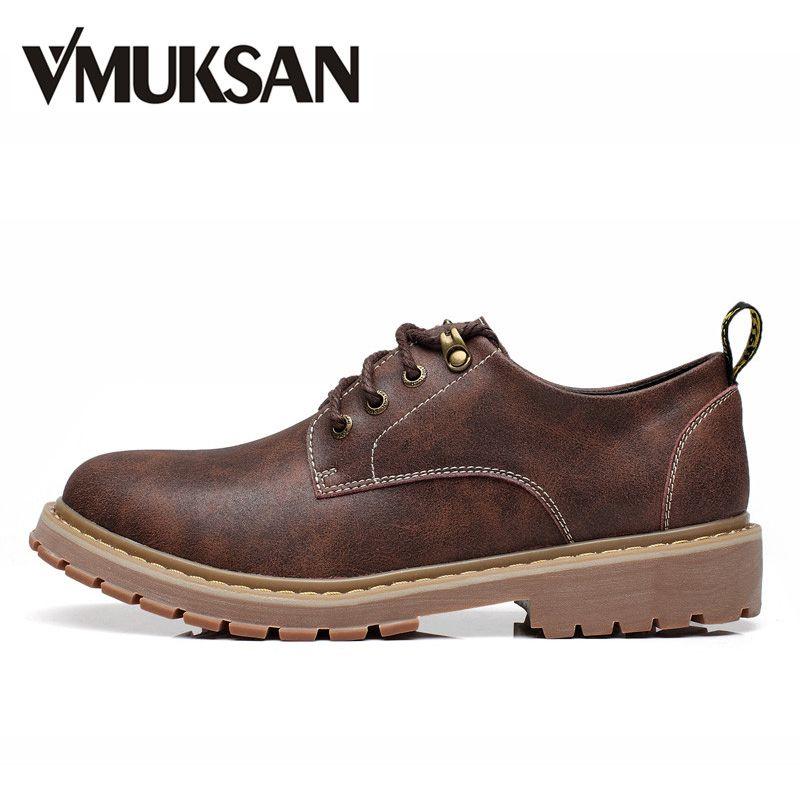 VMUKSAN Talla 38-47 botas hombre 2017 Nuevo Moda botas tacticas Atarse los cordones marca botas militares hombre