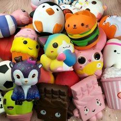 1 Pcs Acak Kawaii Lembut Jumbo Licin Lambat Rising Menyenangkan Kotoran Squishes Indah Ponsel Tali Hadiah Mainan untuk Anak-anak Anak Laki-laki dan Perempuan