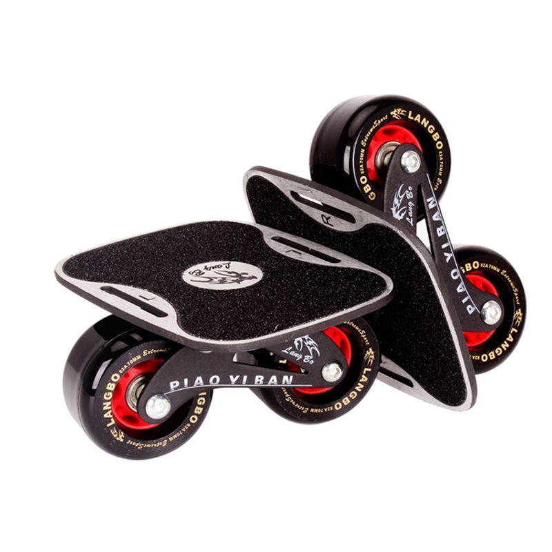 Drift Bord Zwei PU Räder Aluminium legierung Skateboard Für Freeline Roller Road Drift Skates Antislip Deck Skates Wakeboard IB97