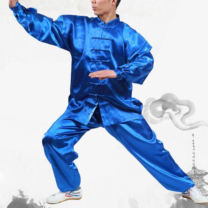 Venta caliente Hombres Mujeres Wushu Uniforme Etapa Rendimiento Ropa Tai Chi Kung Fu Trajes de Taijiquan Práctica Desgaste del Funcionamiento