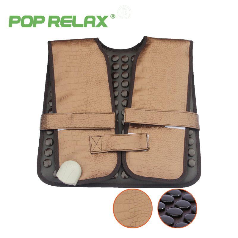POP ENTSPANNEN gesunden elektrische heizung therapie zervikalen gürtel turmalin produkte physiotherapie gerät matte schulter rückenmassage gürtel