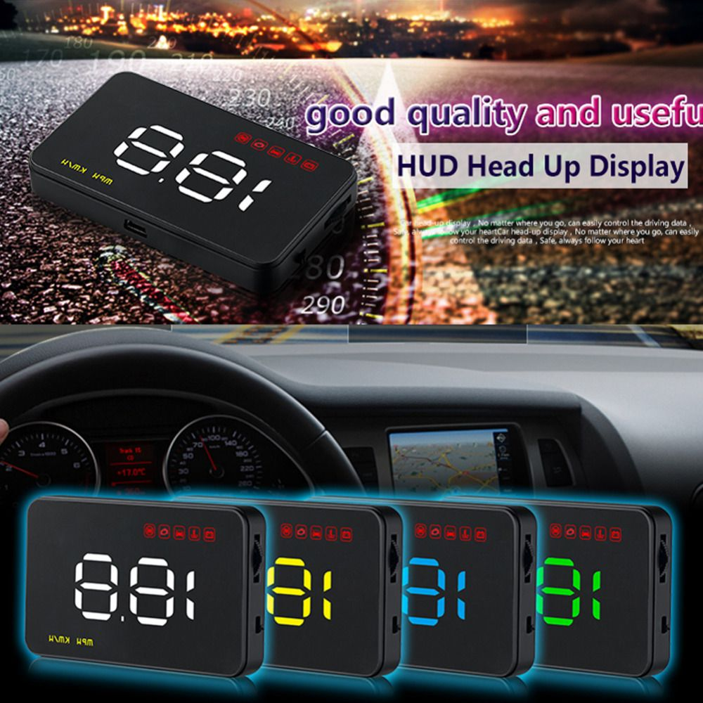 Digital Car Speedometer Auto 3.5 A1000 HUD Head Up Display Windshield Projector Auto Power on/off