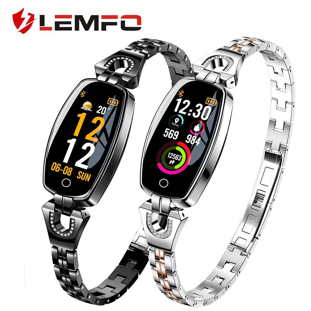 LEMFO H8 Smart Bracelet Fitness Bracelet Watch Support Heart Rate Blood Pressure Monitor Waterproof Fitness Tracker for Women