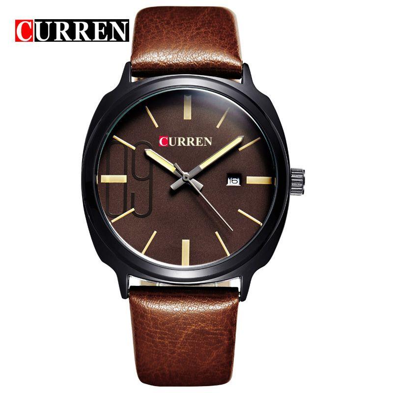 Curren 2016 Mens Watches Top Brand Luxury Men's Sports Quartz Wristwatches Relogio Masculino Men Curren Watches Male Clock 8212