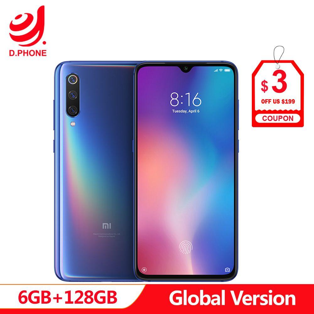 Globale Version Xiao mi mi 9 mi 9 6 GB 128 GB Snapdragon 855 48MP Triple Kamera AMOLED Handy fingerprint Drahtlose Lade NFC