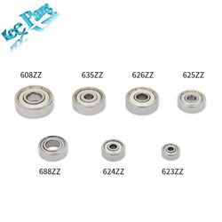 10PCS ABEC-7 Flange Ball Bearing 608zz 623zz 624zz 625zz 635zz 626zz 688zz 3D Printers Parts Deep Groove Flanged Pulley Wheel