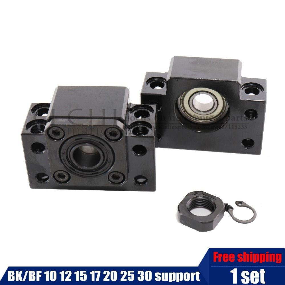 BK BF Set ein pc von BK12/10/15/17/20/25/30 und einem pc BF12 für RM1204 SFU1605 sfu2005 Ball Schraube Ende Unterstützung für CNC teile