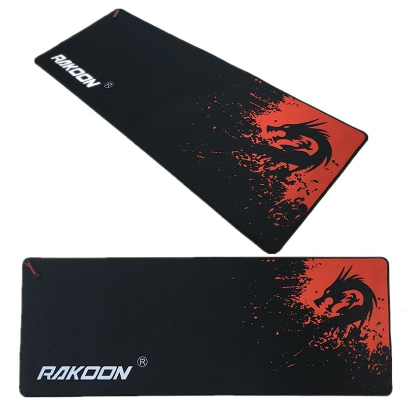 Marque grand tapis de souris de jeu avec bord de verrouillage Dragon rouge 30*80 CM vitesse/Version de contrôle tapis de souris pour Dot 2 Lol