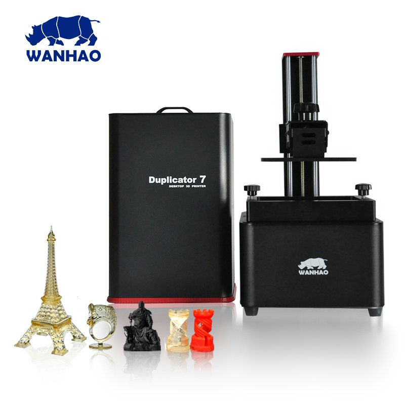 2018 New D7 V1.5 Wanhao D7 Duplicator 7 UV resin 3D Printer SLA DLP 3D Printer for sale only $399 250ml Resin gift D7V1.5