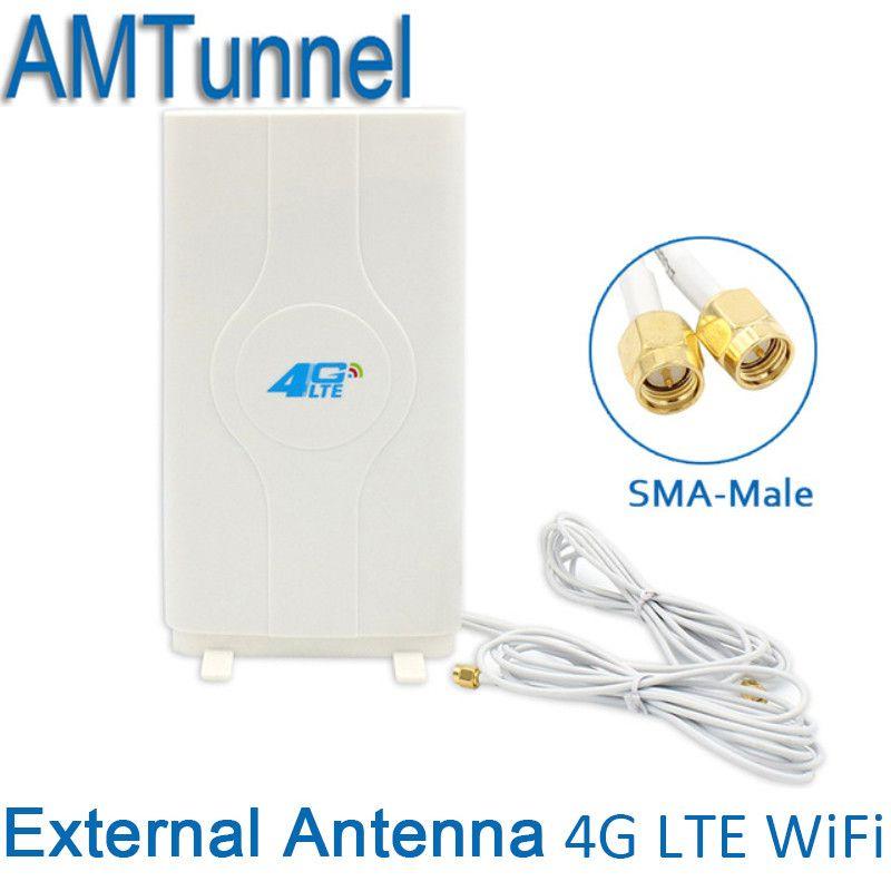 4G Antenne 3G 4G LTE Externe Panel Antenne 4G router antenne mit sma-stecker und 2 meter kabel für 3G 4G Huawei router modem