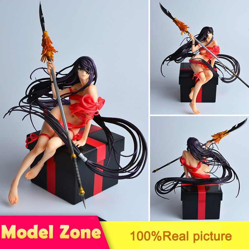 Japanese Action Figure Shin Ikkitousen Kanu Unchou Sexy Girl Model Cartoon Doll PVC 25cm Figurine World Anime XX015