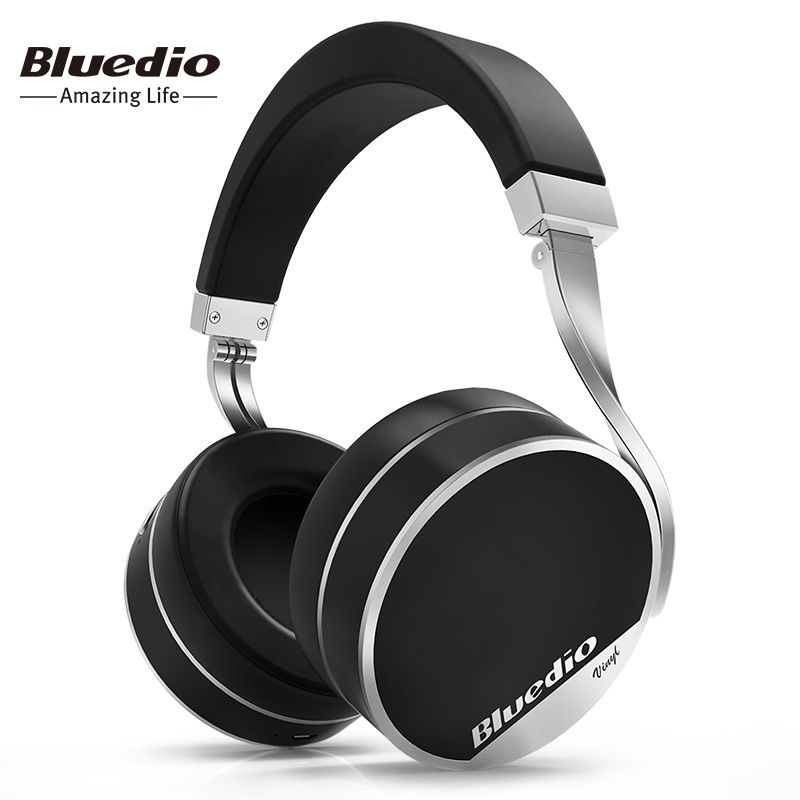 Bluedio Vinyl Plus Light Extravagance Wireless Bluetooth Headphones Special counter Luxury Foldable Headsets with Microphone
