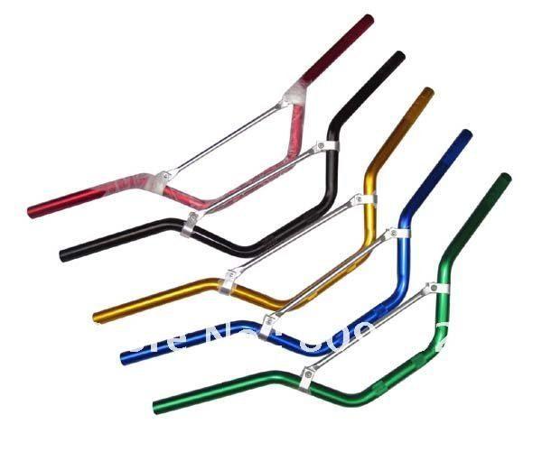 Guidon en aluminium de qualité normale 22mm pour vélo de fosse de saleté 7/8