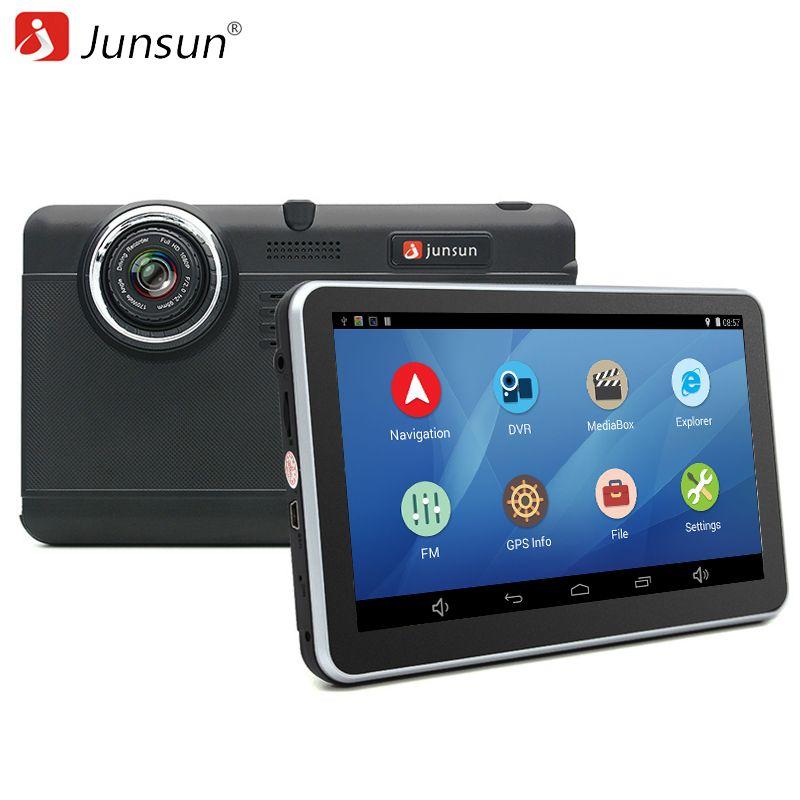 Junsun 7 pouce Voiture DVR GPS Navigation Android tablet pc Bluetooth wifi fhd 1080 p Caméra Enregistreur Véhicule gps automobile navigateur