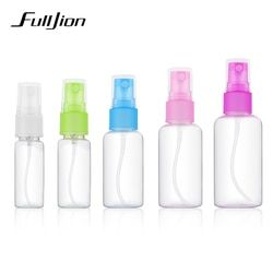 Fulljion 1 Pcs Mini Plastic Transparent Small Empty Spray Bottle For Make Up And Skin Care Refillable Random Color Travel use