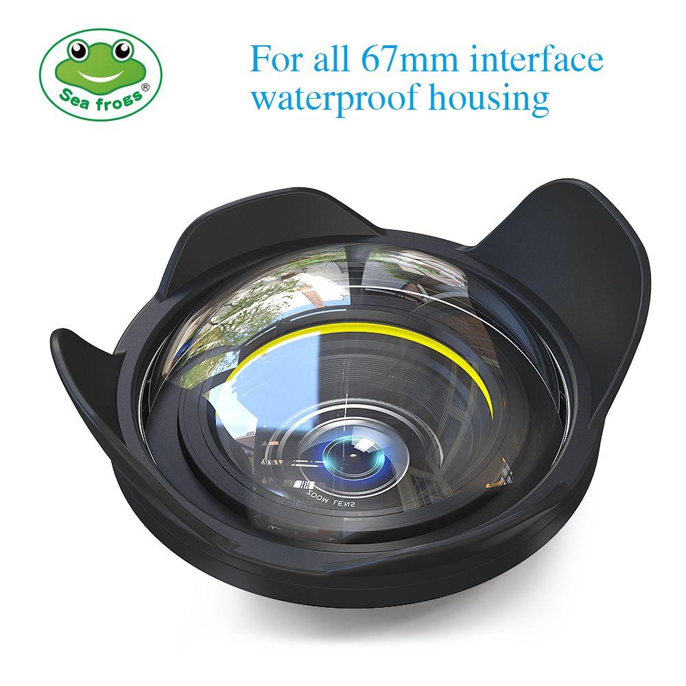 Kamera Objektiv Weitwinkel 67mm Interface für Sony Canon Nikon Fujifilm Kamera Seafrogs Meikon Gehäuse Unterwasser Tauchen Fisheye