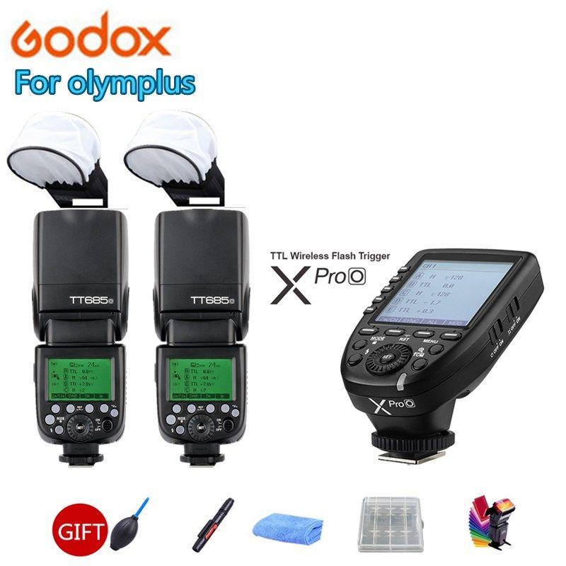 2X Godox TT685O Camera Flash Speedlite GN60 Wireless TTL HSS + Xpro-O Trigger for Olympus PEN-F E-P3 P5 PL5 PL6 PL7 PL8 M1 M10II