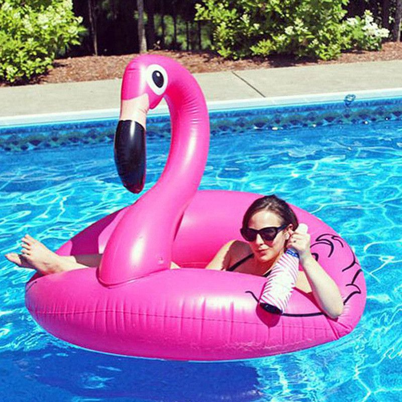 HziriP <font><b>1Pcs</b></font> New Arrivals Inflatable Pool Toys High Quality Cartoon Animals Pink Cute Pool for Grownups Water Holiday Fun Party