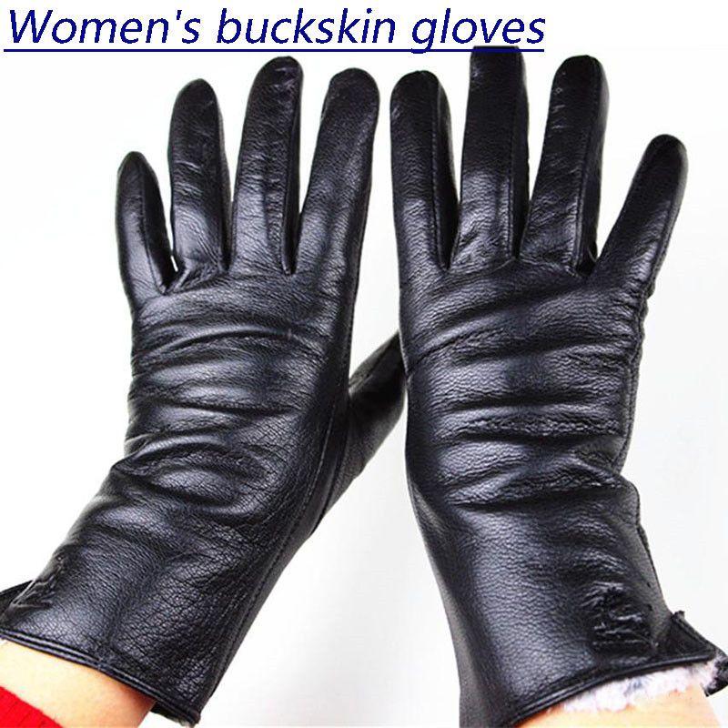 Gants lupin femmes mince doublure en laine XL style droit gants en cuir épais fausse fourrure de lapin doublure automne et hiver chaud