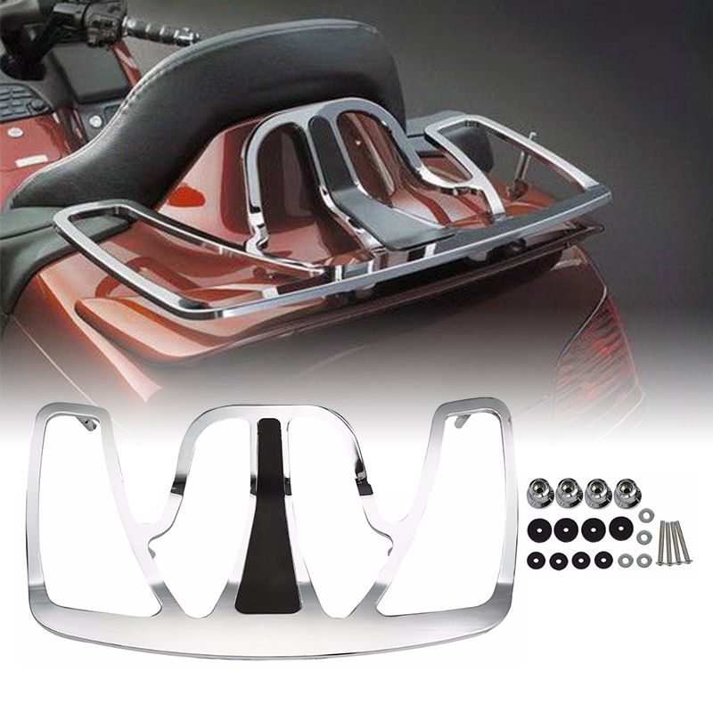Motorcycle Chrome Trunk Luggage Rack Aluminum For Honda Goldwing GL1800 GL 1800 2001-2017 motorbike accessories