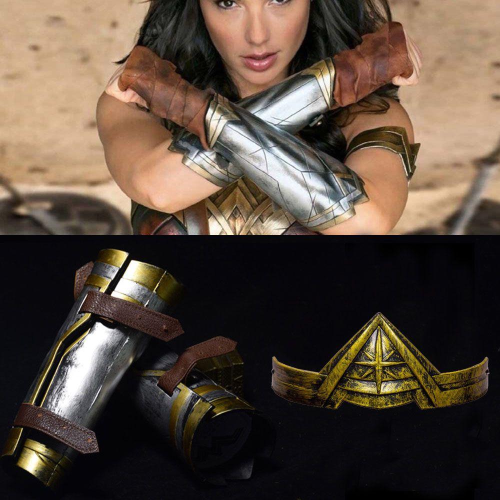 Wonder Woman Wonder Woman Princess Diana Prince Cosplay Armband Gauntlet Tiara Headband Crown Wrist Accessories Props Halloween