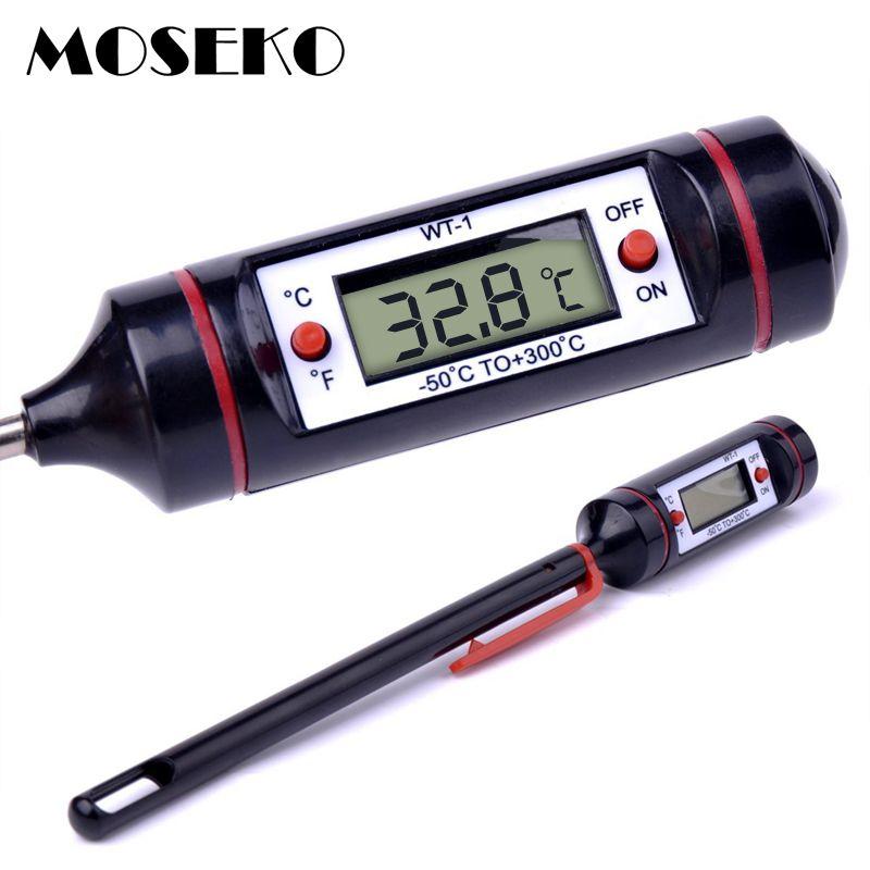 MOSEKO Heißer Verkauf Tragbare Essen Thermometer Digital-Milch Wasser Ofen Sonde BBQ Fleisch-thermometer Küche Kochwerkzeug Temperatur