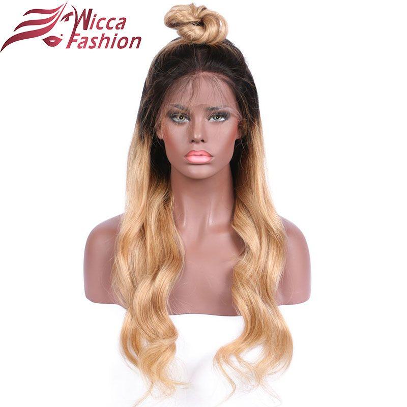 Träumen schönheit Körperwelle Ombre 27 Farbe Vordere spitzeperücke Nicht Remy Haar Brasilianisches Menschenhaar Perücken Mit Baby haar