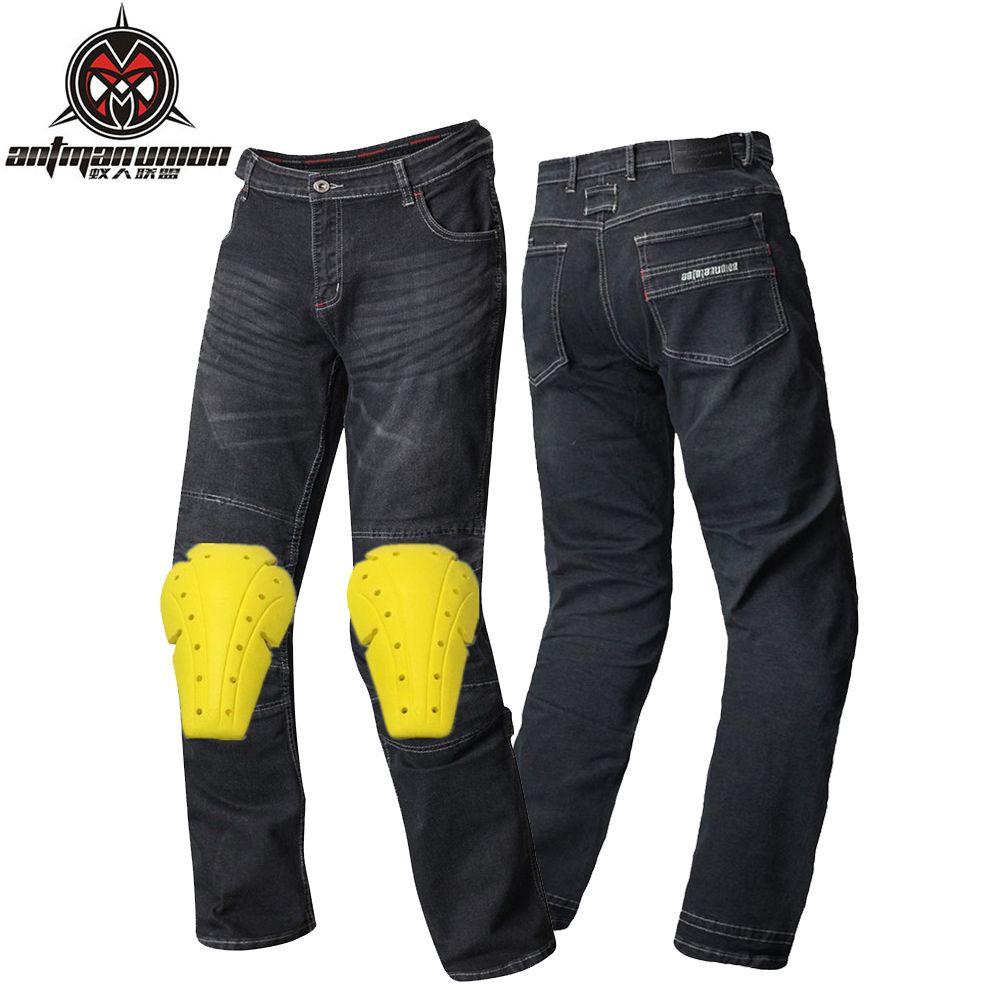Demin Motorcycle Pants Men Moto Motocross Pants Enduro Riding Trousers Motocross Off-Road Racing Sports Knee Protective Trousers