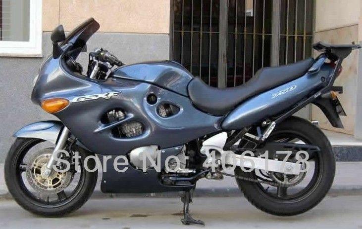 Heiße Verkäufe, 03 04 05 06 GSXF750 03-06 vollen satz Für Suzuki GSXF 750 2003-2006 2003 2004 2005 2006 grau Motorrad Verkleidungen