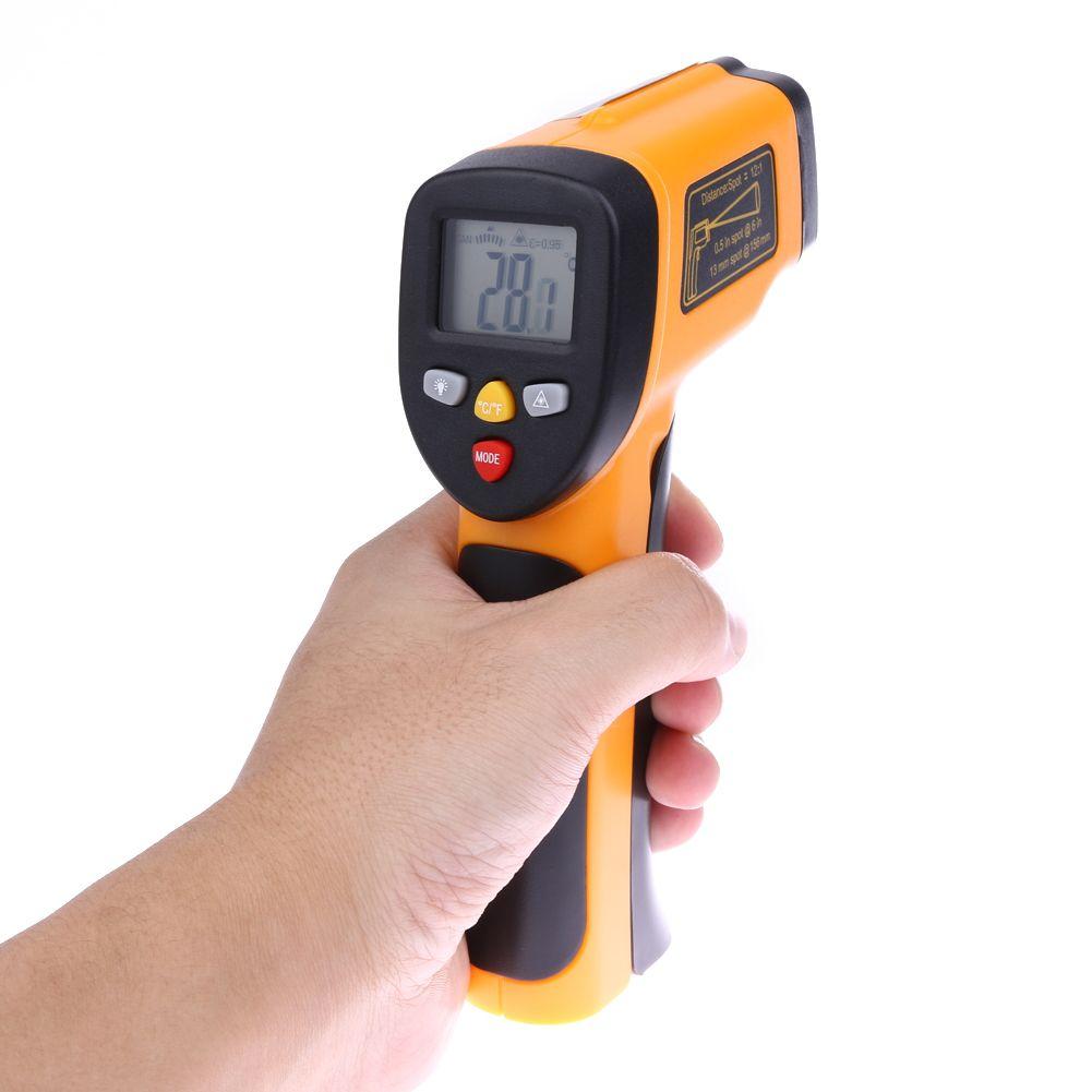 Thermomètre infrarouge Laser numérique sans contact professionnel pistolet à Point de température de Test de compteur de température IR-50 à 650 degrés