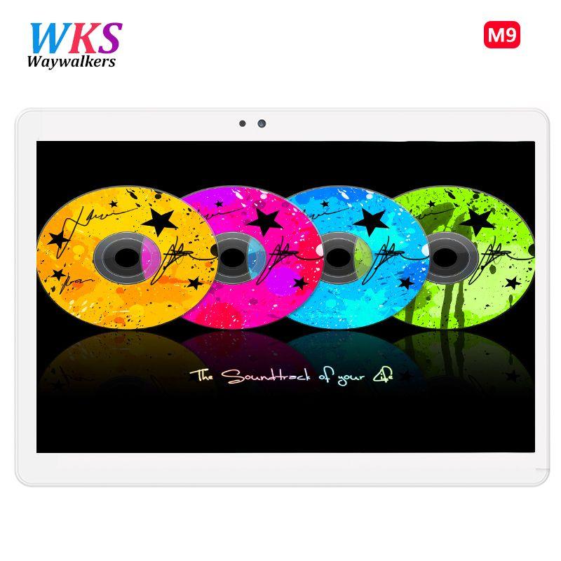 Neueste 10 zoll Waywalkers M9 tablet PC Android 7.0 Octa-core 4 GB RAM 64 GB ROM Dual-sim-karte Bluetooth GPS Tabletten 1920*1200 IPS