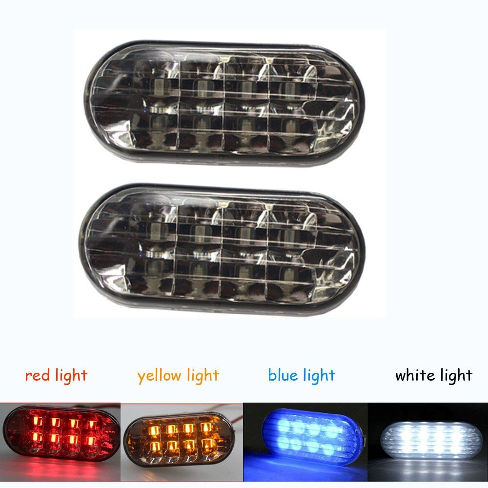 Amber Smoke Side Marker Turn Light 8 LED For VW Volkswagen /Golf /Jetta/ Passat/ Bora /MK4 GTI / R32/ New Beetle Black White